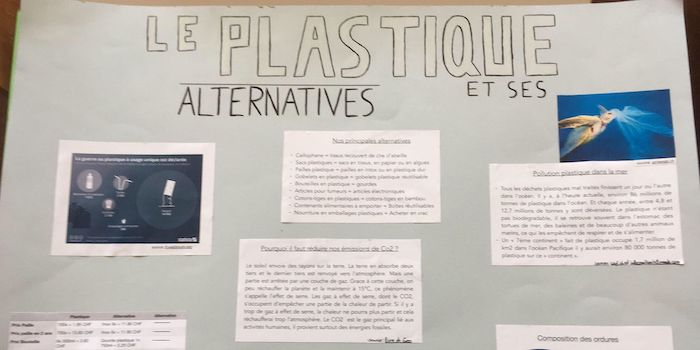 Morges-Beausobre 2019-2020: Alternatives aux plastiques
