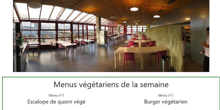 ETML 2019-2020: Mise en place de menus végétariens à la cafétéria et création d'une application